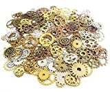 Craft parts Gear Charm About 50 species 150 pieces 4 color set