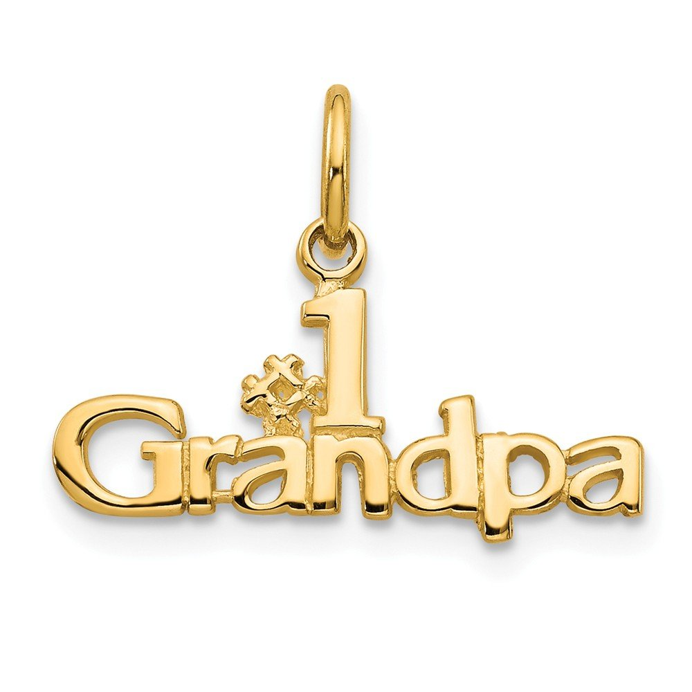 14K Yellow Gold #1 Grandpa Charm