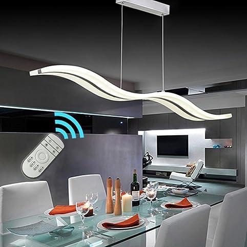 Create For Life® Kronleuchter Moderne Welle LED-Pendelleuchte ...