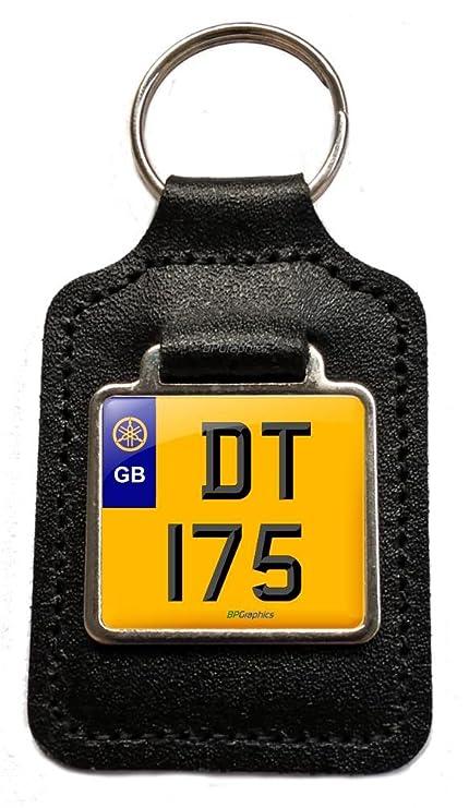 Yamaha DT 175 preciados número placa motocicleta piel ...