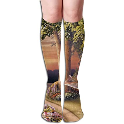 Amazon.com: Bandnae 19.68 Inch Compression Socks Visual Art ...