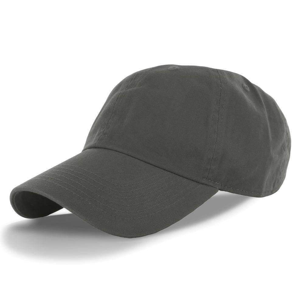 Olive_(US Seller)Cotton Plain Solid Style Baseball Ball Cap Hat