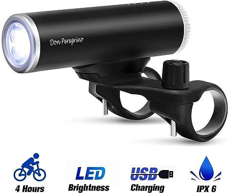 DONPEREGRINO AI LED Luz Bicicleta Delantera Potente 800 LM | Faro ...