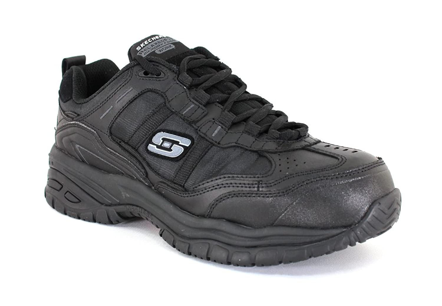 Skechers Men 's Soft Stride Grinnelブラックレザー作業10 D ( M ) US B01APRYQBG