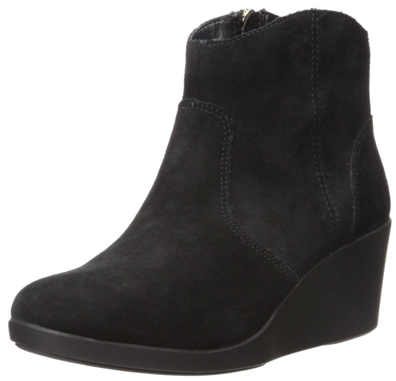 Crocs Women's Leigh Suede Wedge Boot B01A6LKKBG 11 M US|Black