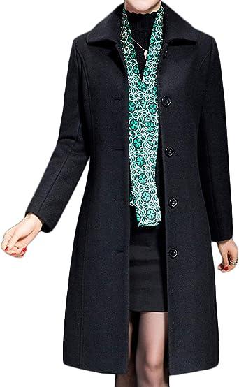 Amazon.com: Jenkoon Women's Wool Trench Coat Winter Long Thick Overcoat  Walker Coat: Clothing