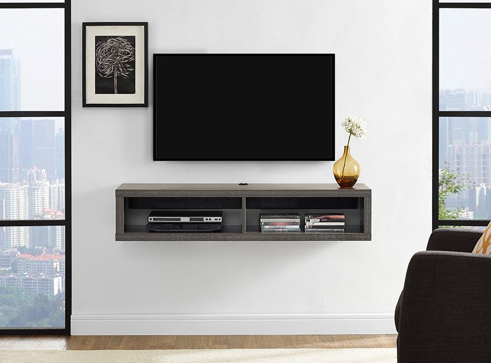 Martin FurnitureFloating TV Console, 48inch, Skyline Walnut