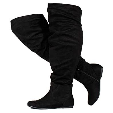 8b7ecfe4e84d4 RF ROOM OF FASHION Women's Wide Calf Over The Knee High Slouchy Boots