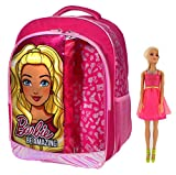 Barbie Be Amazing Girls Backpack with Doll Pink