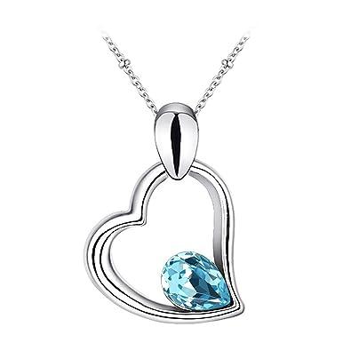 Le Premium Amour Confession Cœur Collier Pendentif en forme de goutte d eau  en cristal a45db1b6c372