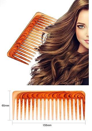 takestop® Peine de Dientes Anchos Marrón De plástico para Cuidado de Pelo Cepillo Grande desenredante peluquería Peinado Profesional: Amazon.es: Electrónica