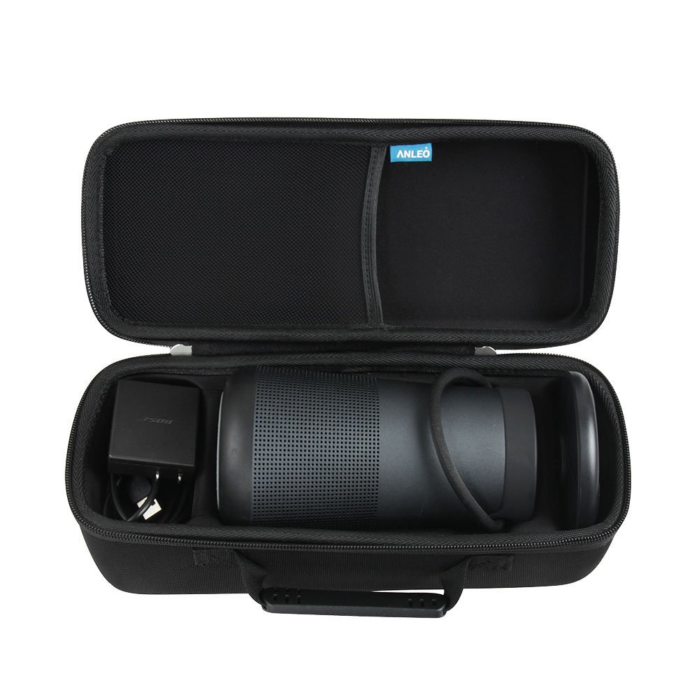 Anleo Hard EVA Travel Case for Bose SoundLink Revolve+ Bluetooth Speaker - Fits Charging Cradle Color: Triple Black