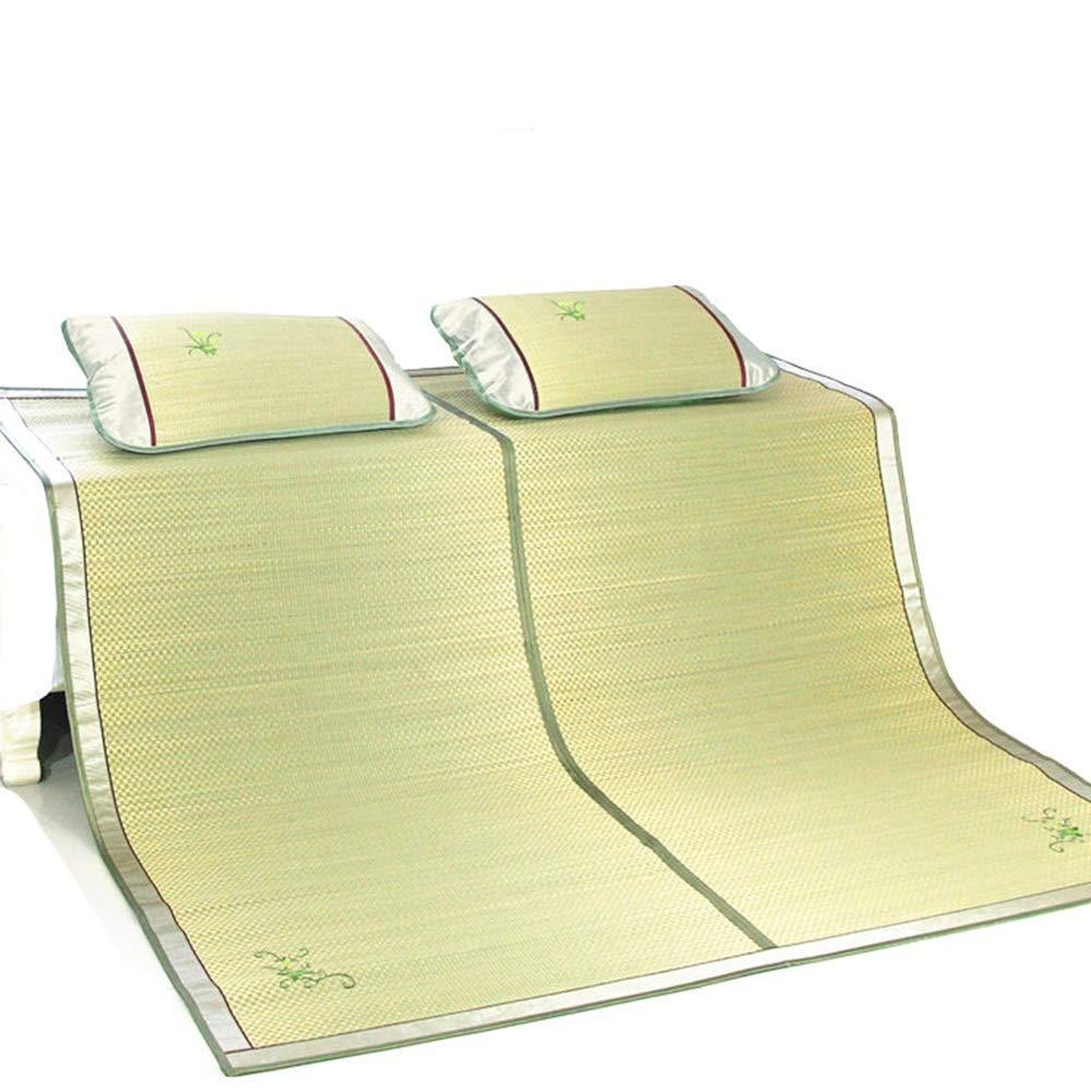 QL サマーマットレス 夏用スリーピングマット、マット、スポンジマット、折りたたみ式、枕カバー付き、エアコンクッション、シングルおよびダブル で利用可能 竹製マットレス (Size : 1.5x1.95m) B07SQYVFR3  1.5x1.95m
