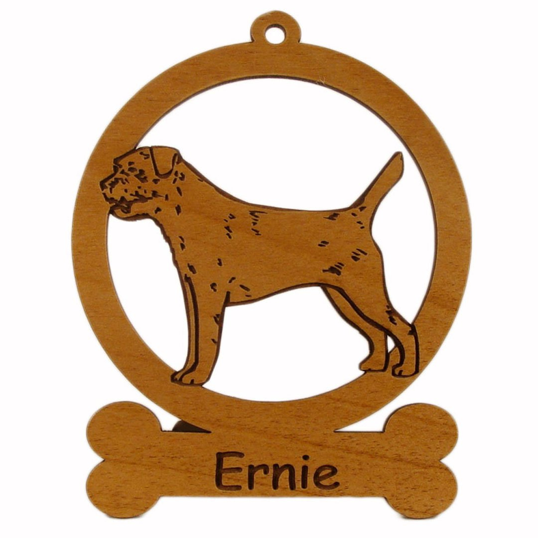 Border Terrier Standing Ornament 081896 Personalized With Your Dog's Name