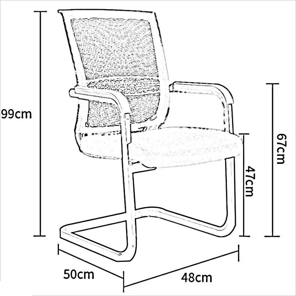 WYYY stolar kontor skrivbordsstol rosettform ergonomisk andningsbar nätkonferensstol stålram ländrygg stöd hållbar stark (färg: Blå) röd