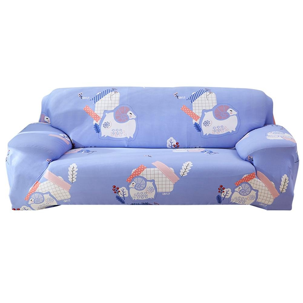 HighPlus Stretch Sofa Cover Loveseat Couch Slipcover, Machine Washable, Animal Printed, Stylish Furniture Protector(Sheep/3-Seat)