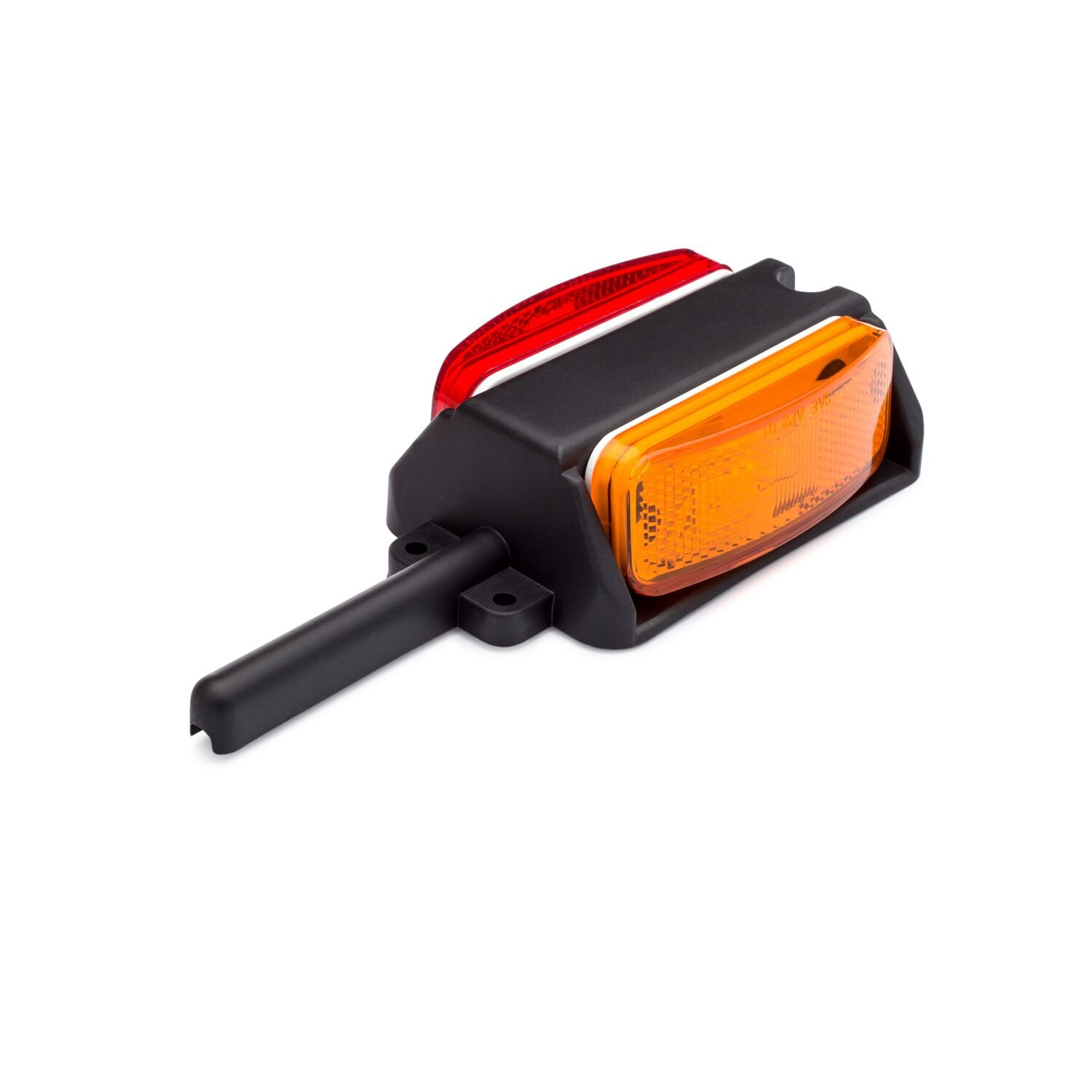 Lumitronics Pre-Wired Right Fender Clearance Trailer Light Assembly - Amber/Red LUM-MP21AR-R
