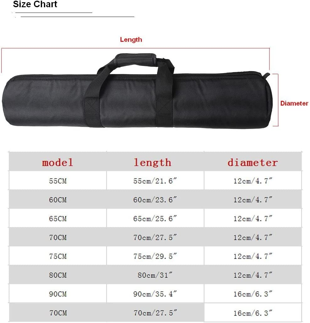 "Tripod Carry Bag Pad Package -Bailuoni Great As A Carrying Case for Your Tripod in Outdoor/Outing Photography Bag (65CM)(25.6"" × 4.7"""