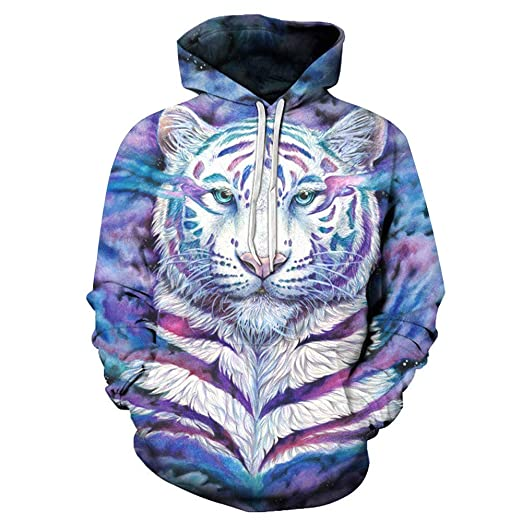 a9d64fc46076 TAGGMY Pullover for Men 3D Tiger Printed Fashion Plus Size Hoodies Hooded  Cool Styel Long Sleeves Sweater Tops Blouse 5xlarge at Amazon Men s  Clothing store ...
