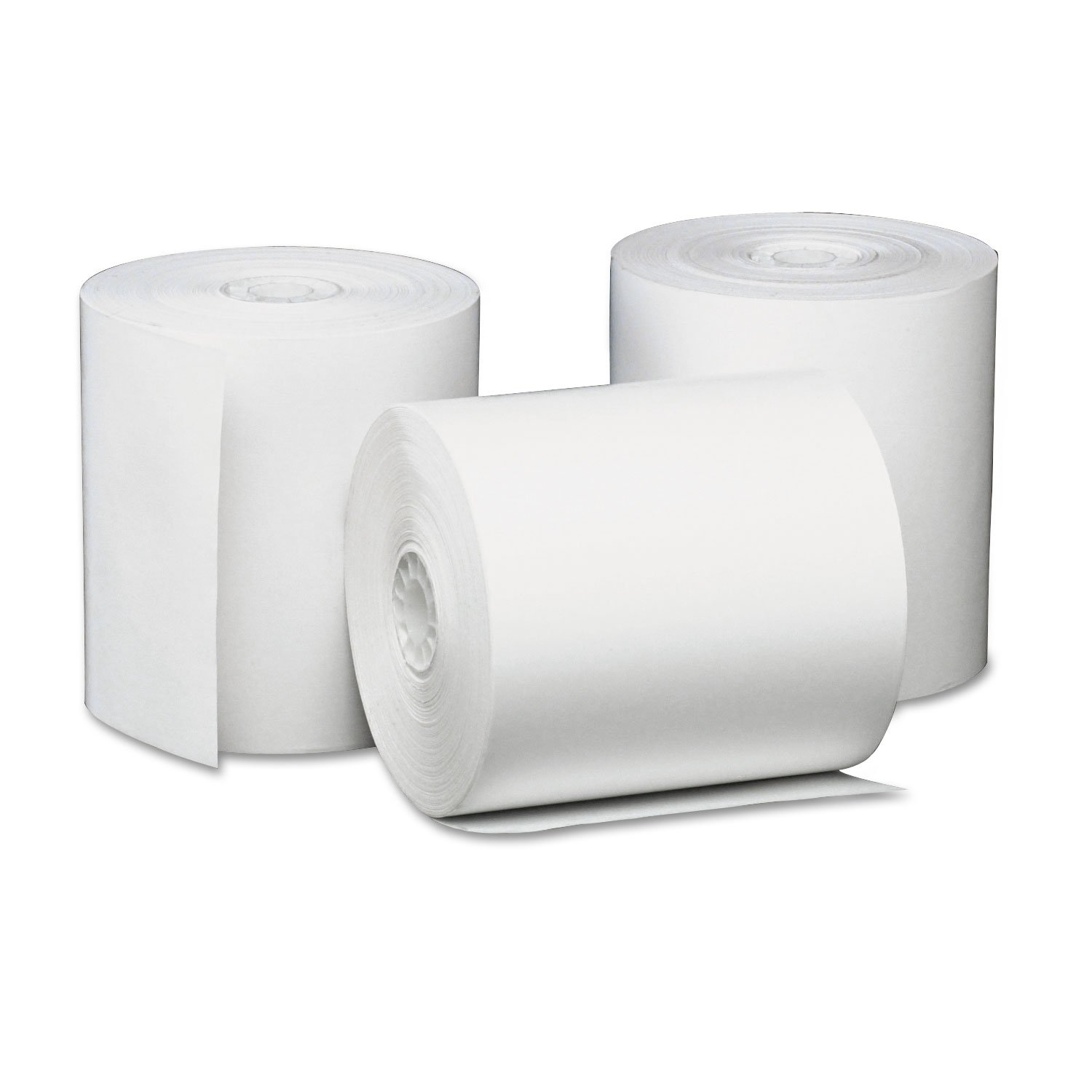 Universal 35763 Single-Ply Thermal Paper Rolls, 3 1/8 x 230 ft, White (Case of 50) 3 1/8 x 230 ft Universal Exchange UNV35763