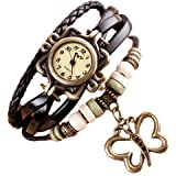 Lady Watches,POTO JY-37 2017 New Weave Around Alloy Analog Bracelet with Butterfly Wrist Watch Gift