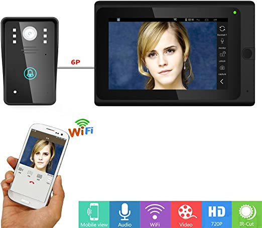 HL 7inch Timbre Intercom, WiFi IP Video Portero Sistema de Entrada ...