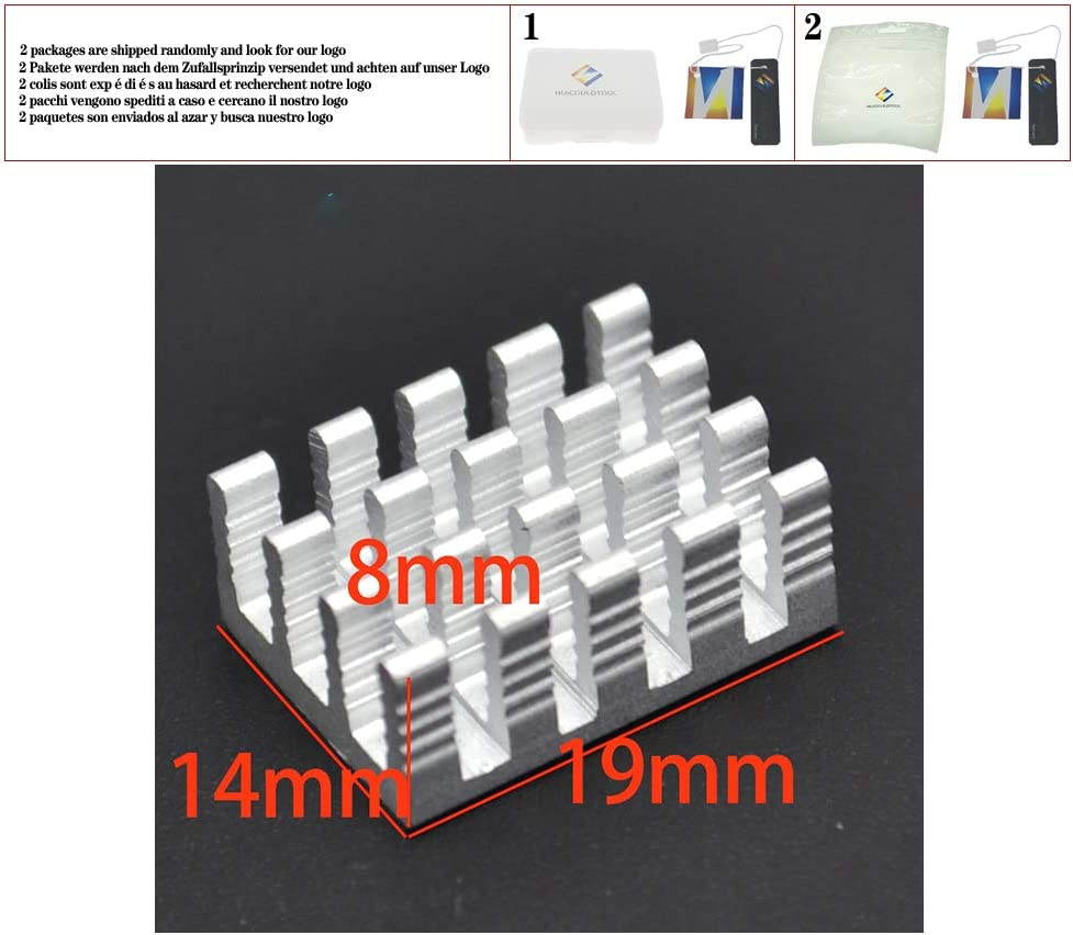 Heat Sink 5pcs 19148MM Silver Slotted