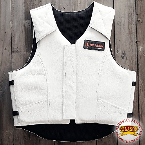 HILASON X LARGE BULL RIDING PRO RODEO LEATHER PROTECTIVE VEST GEAR EQUIPMENT ()