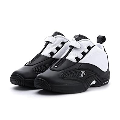 7c269c6fa6ee55 Reebok Men Answer IV Stepover black white steel Size 8.5 US