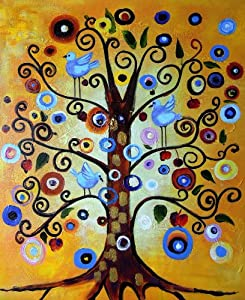 klimt tree of life large fine art oil on canvas painting superb quality and hand made wall art from rflkt of the