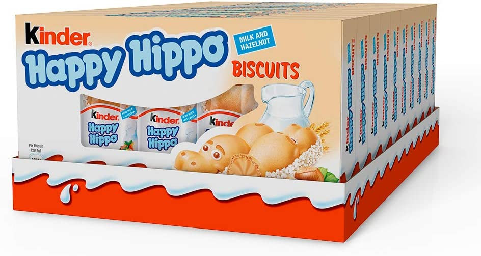 Kinder Happy Hippo Avellana, (paquete de 10, total 50 barras): Amazon.es: Alimentación y bebidas