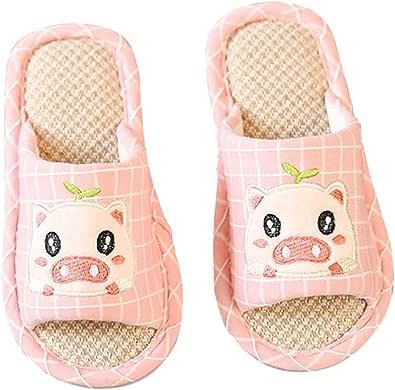 Holibanna Zapatillas de Niños Zapatillas de Dormitorio Antideslizantes de Diseño de Cerdo de Dibujos Animados Lindo Lindo para Niños