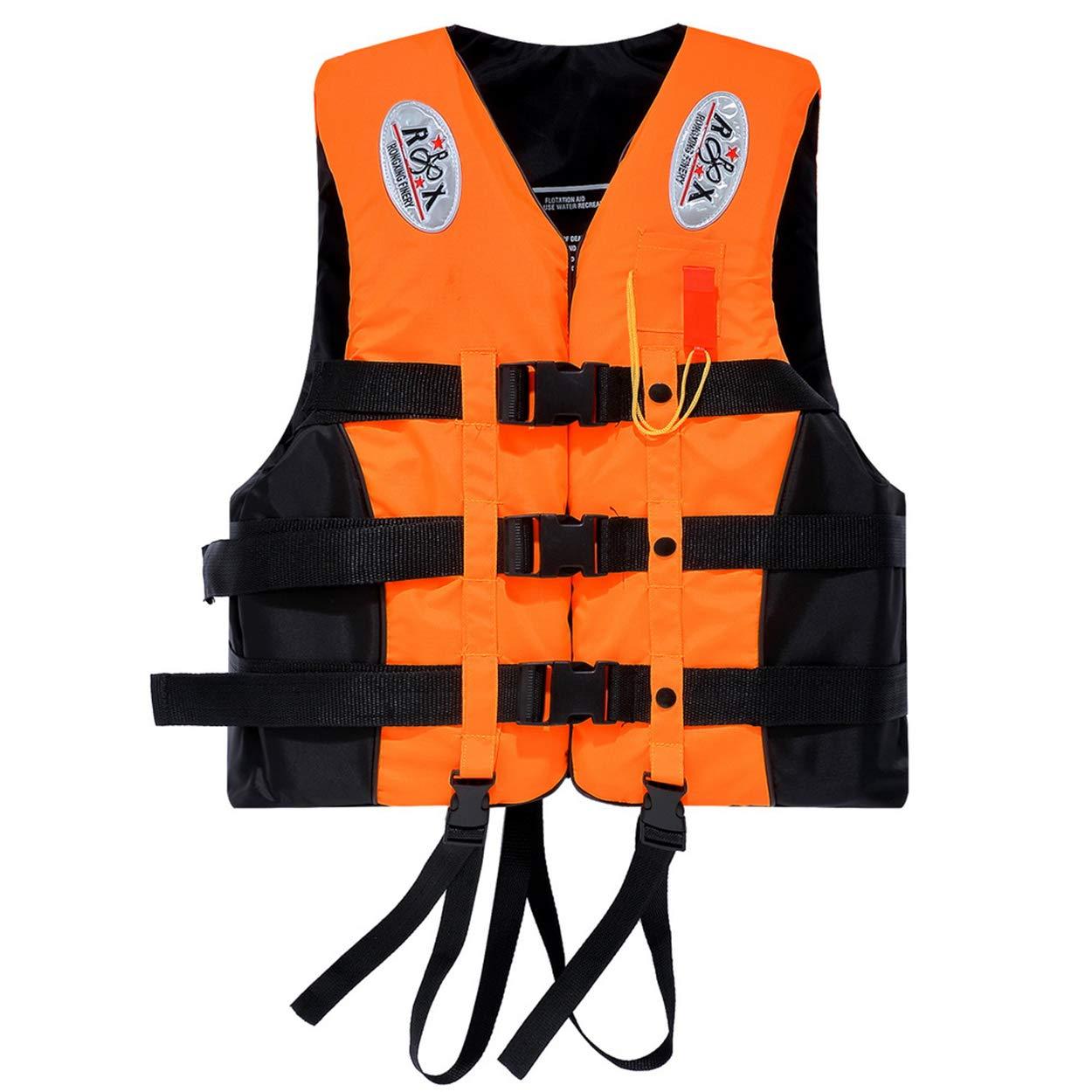Xy Litol ライフジャケット 大人用 カヤック プリザーバー ベスト XXX-Large(fit weight 176 -221 lbs) オレンジ B07HMVZB9B
