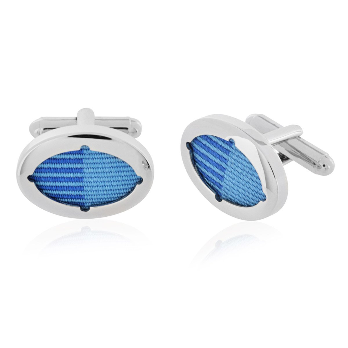 LBB London Blue Ribbon Oval Cufflinks