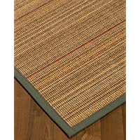 NaturalAreaRugs Resort Sisal Area Rug w/ FREE Rug Pad 2 9 x 9 Tan Border