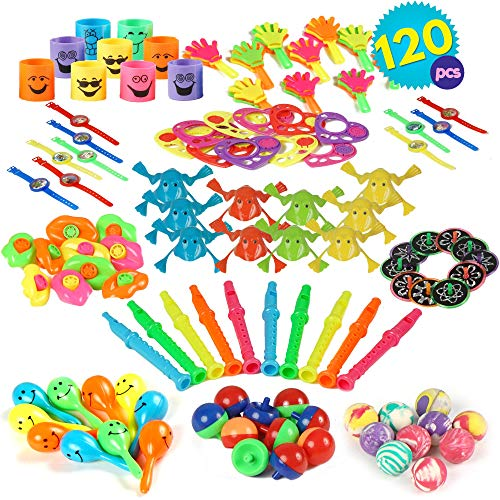 THE TWIDDLERS 120 Bulk Assorted Party Toy Supply | Birthday Party Favors Toys | Goody Bag Fillers | Classroom Prize and Rewards | Carnival Prizes Loot Bags | Treasur Box Toys | Pinata Filler Stuffing