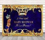 Mehofoto Royal Prince Baby Shower Backdrop Black