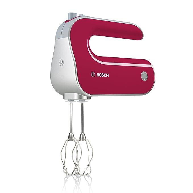 Bosch Styline Red Diamond MFQ40304 - Batidora de repostería, 500 W, 5 velocidades y función Turbo, varillas batidoras y garfios amasadores, color ...