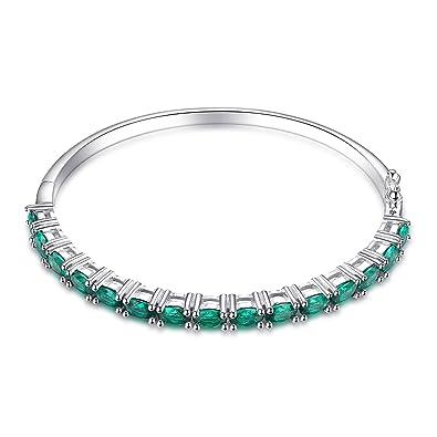 JewelryPalace 5.8ct Grün Simulierte Nano Russische Smaragd Armband 925  Sterling Silber  Amazon.de  Schmuck 21e7ccf353