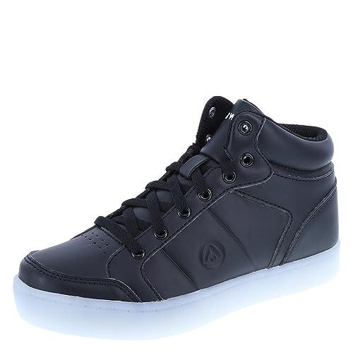 b0d285e50740 Airwalk Boys  Black Boy s Jazz High-Top Light-Up Sneaker Little Kid Size