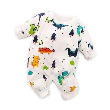 92d50ed9675f Amazon.com  Yaffi PatPat Baby Outfit Full Sleeve Dinosaur Jumpsuit ...