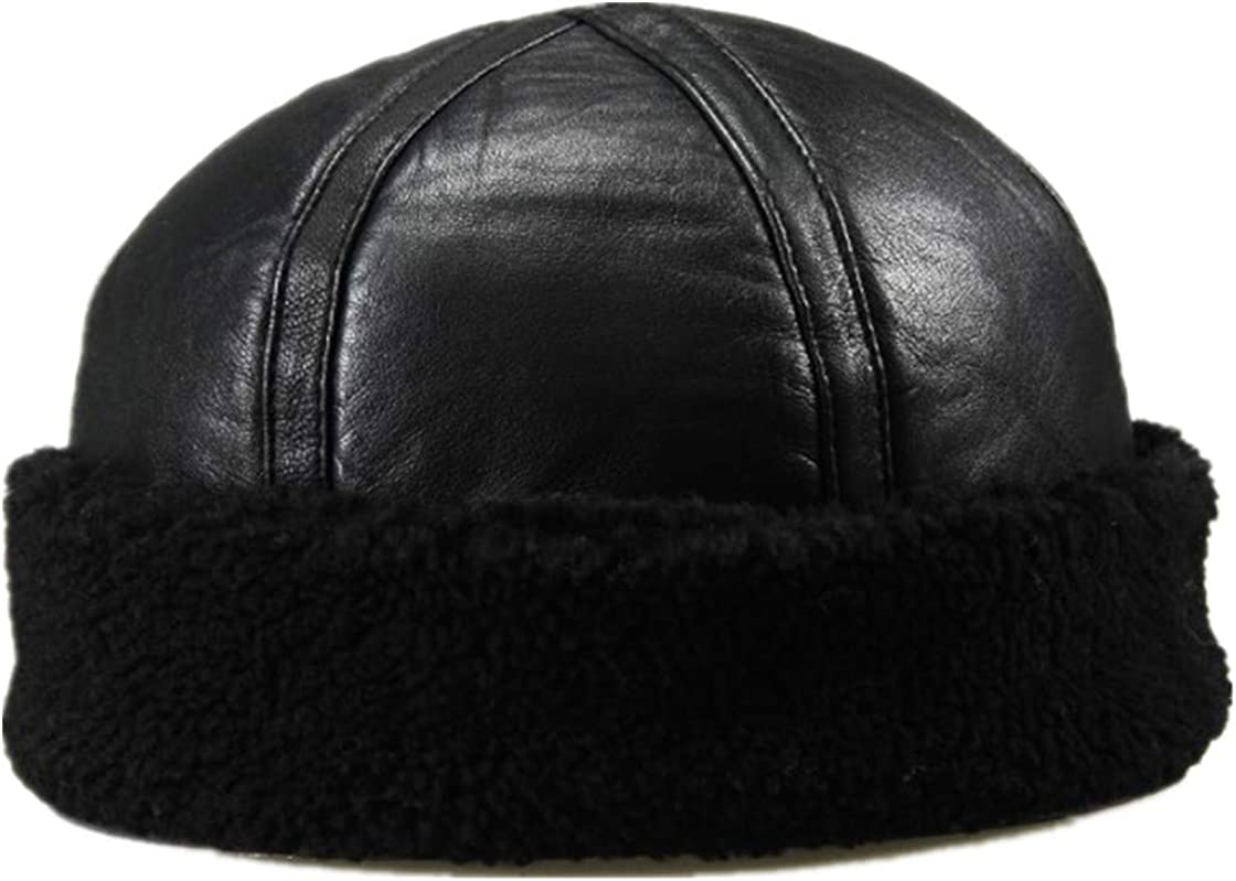Adult Genuine Leather Mens Army Cap Hat Man Military caps Winter Warm Bomber Hats