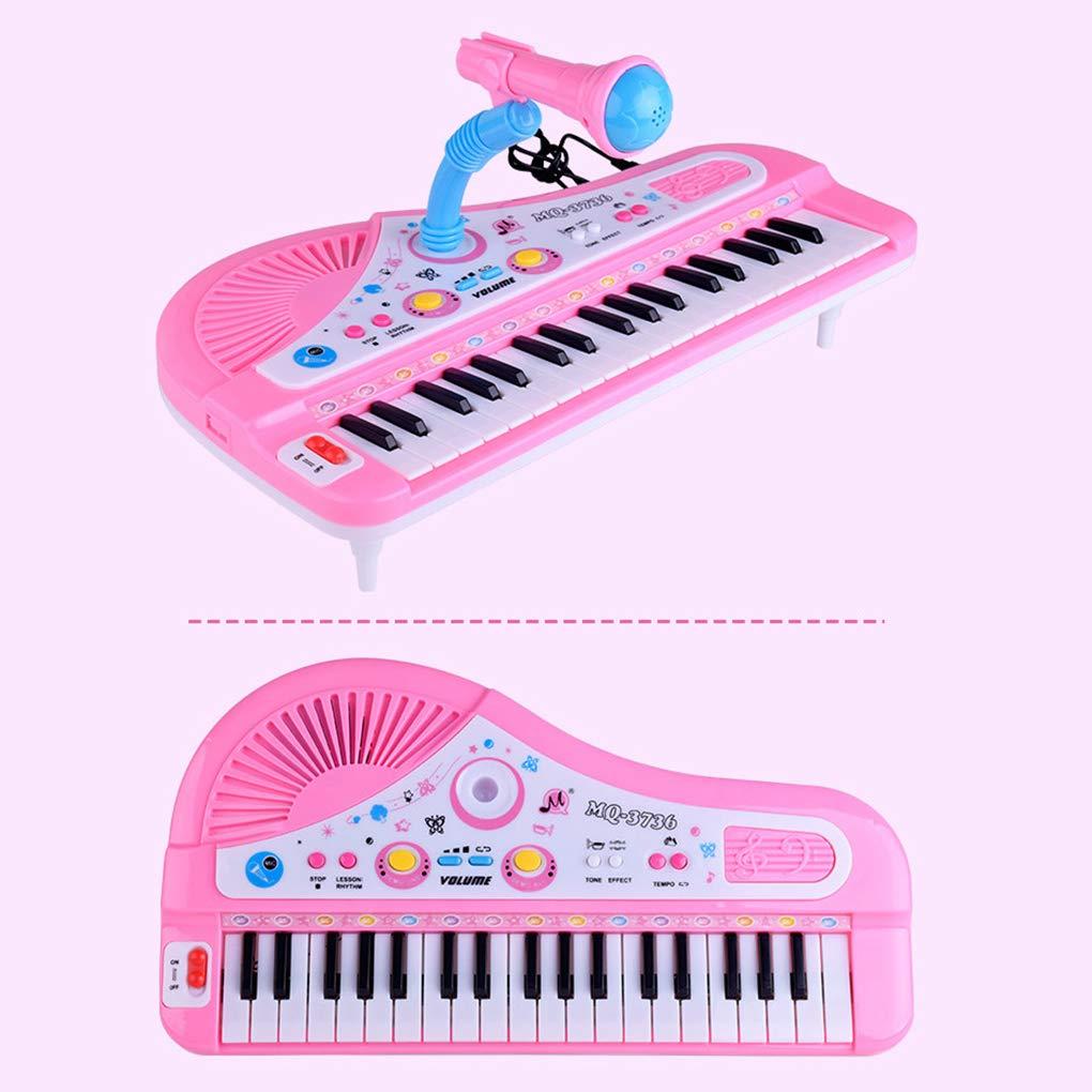 F-blue Enfants Piano Clavier 37 Touches Piano /électronique b/éb/é Jouets pour Enfants Clavier avec gar/çons Micro Filles Jouets