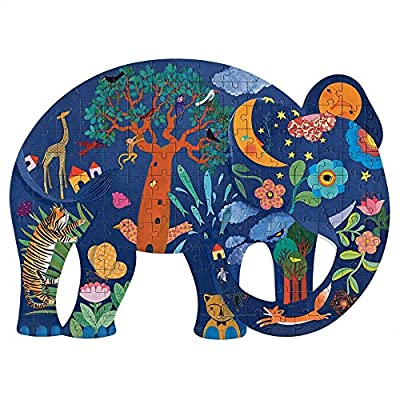 DJECO Puzz Art Elephant Jig Saw Puzzle: Toys & Games