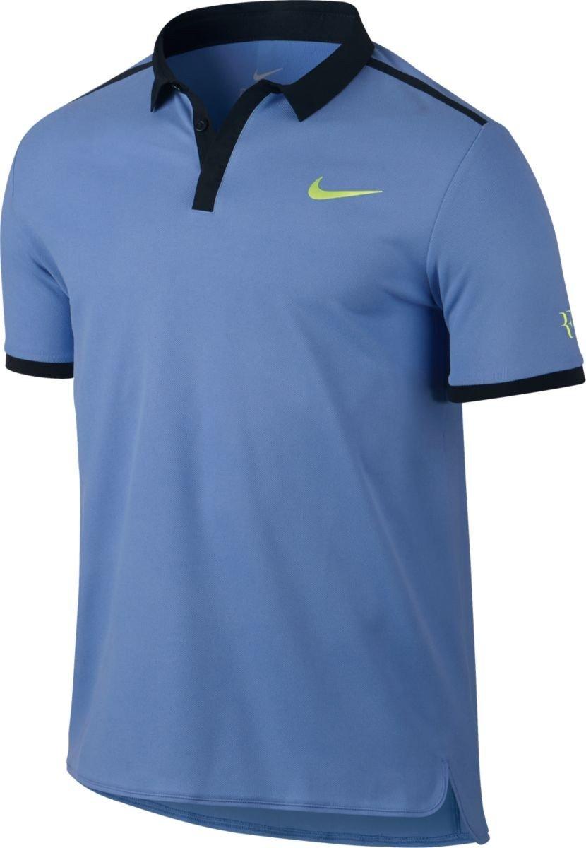Nike - Roger Federer Advantage Hombre Tenis Polo, Azul, Medium ...