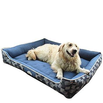 Yiiquan - Cama blanda/cojín para animales domésticos, perros y gatos, desenfundable