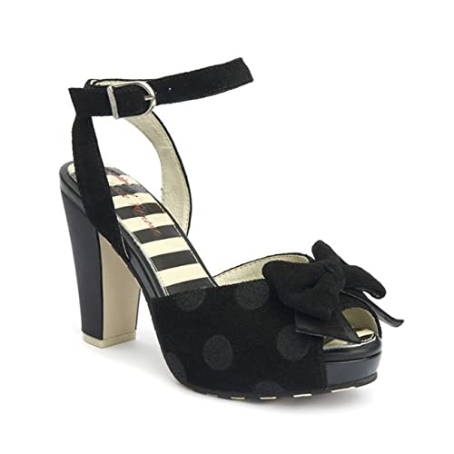 a9cd10bb8446 Lola Ramona Angie P Sandal  Black   Amazon.co.uk  Shoes   Bags