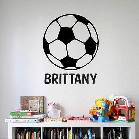 GUUTOP Nombre del balón de fútbol Etiqueta de la Pared Etiqueta de ...