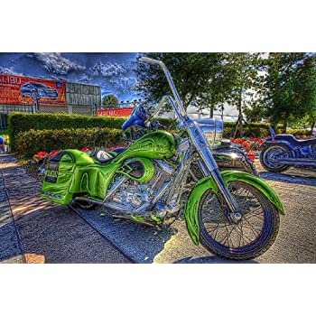 Harley Davidson  CANVAS OR FINE PRINT WALL ART