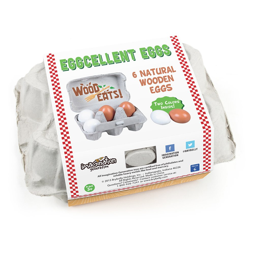 Wood Eats Eggcellent Eggs with Real Carton by Imagination Generation